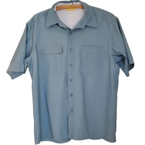 Ultralight travel and hiking button down shirt